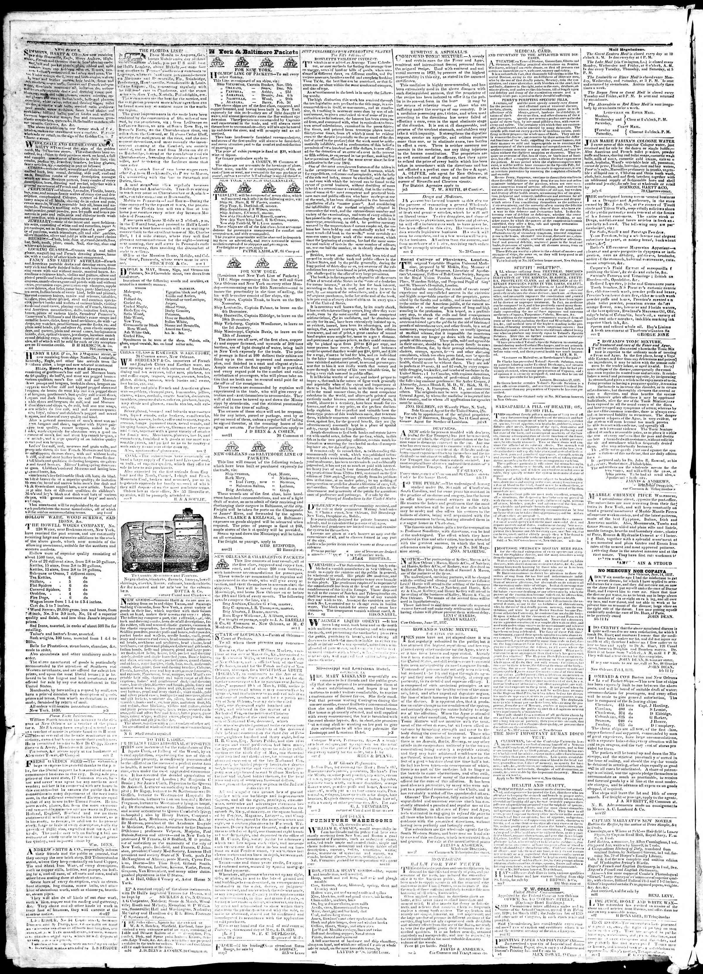 December 10, 1839 Tarihli True American Gazetesi Sayfa 4