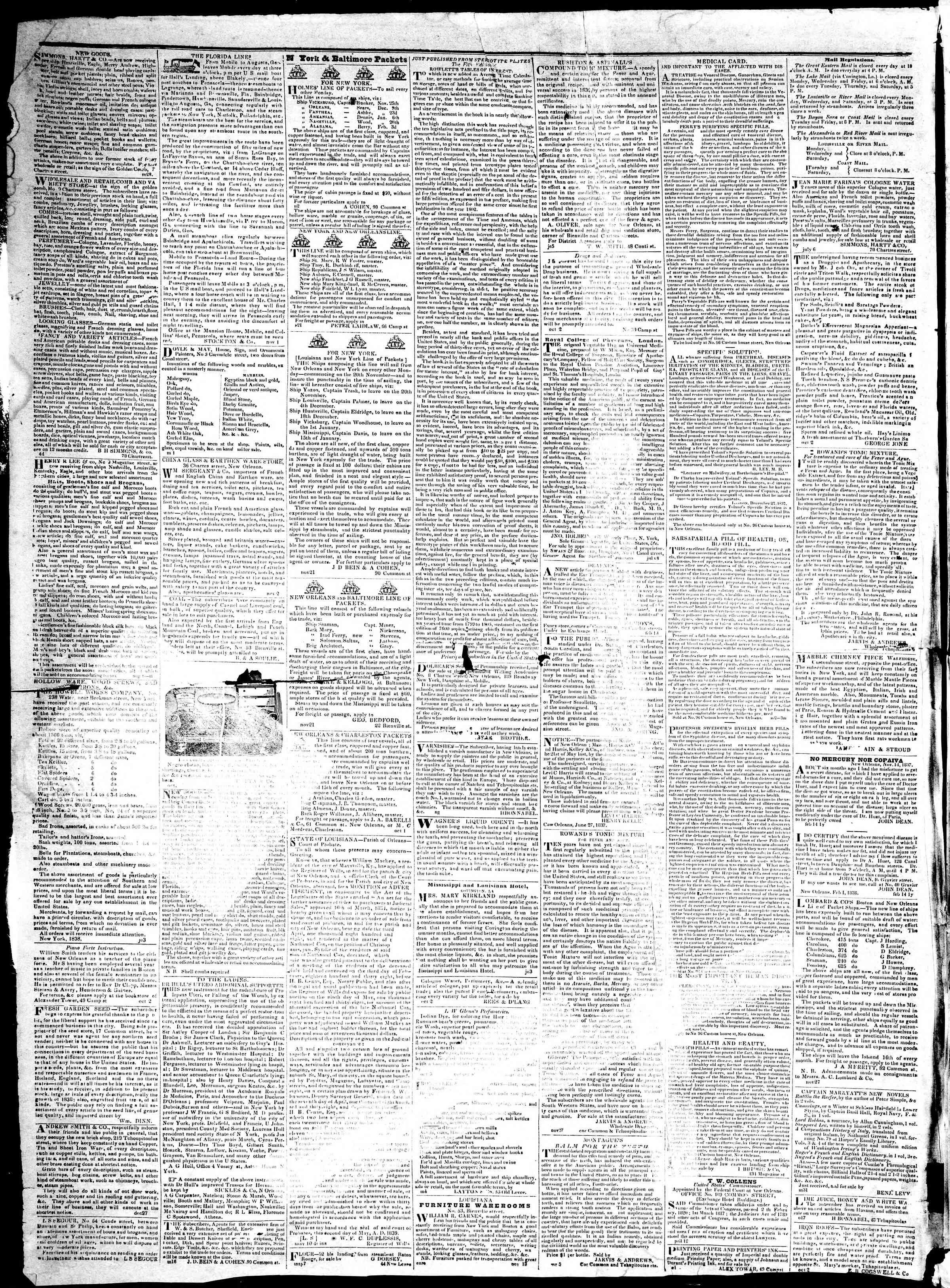 December 13, 1839 Tarihli True American Gazetesi Sayfa 4