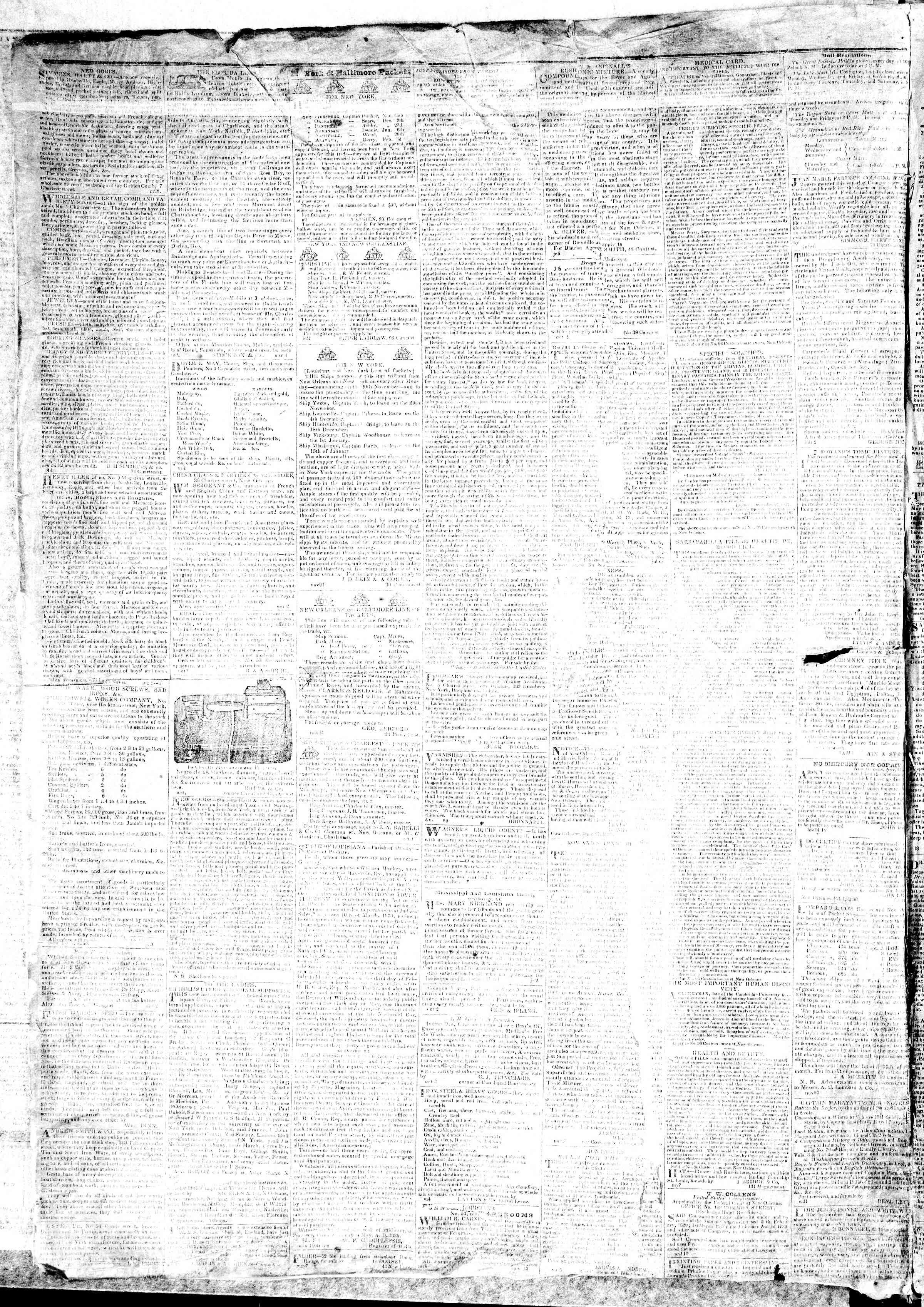 December 14, 1839 Tarihli True American Gazetesi Sayfa 4