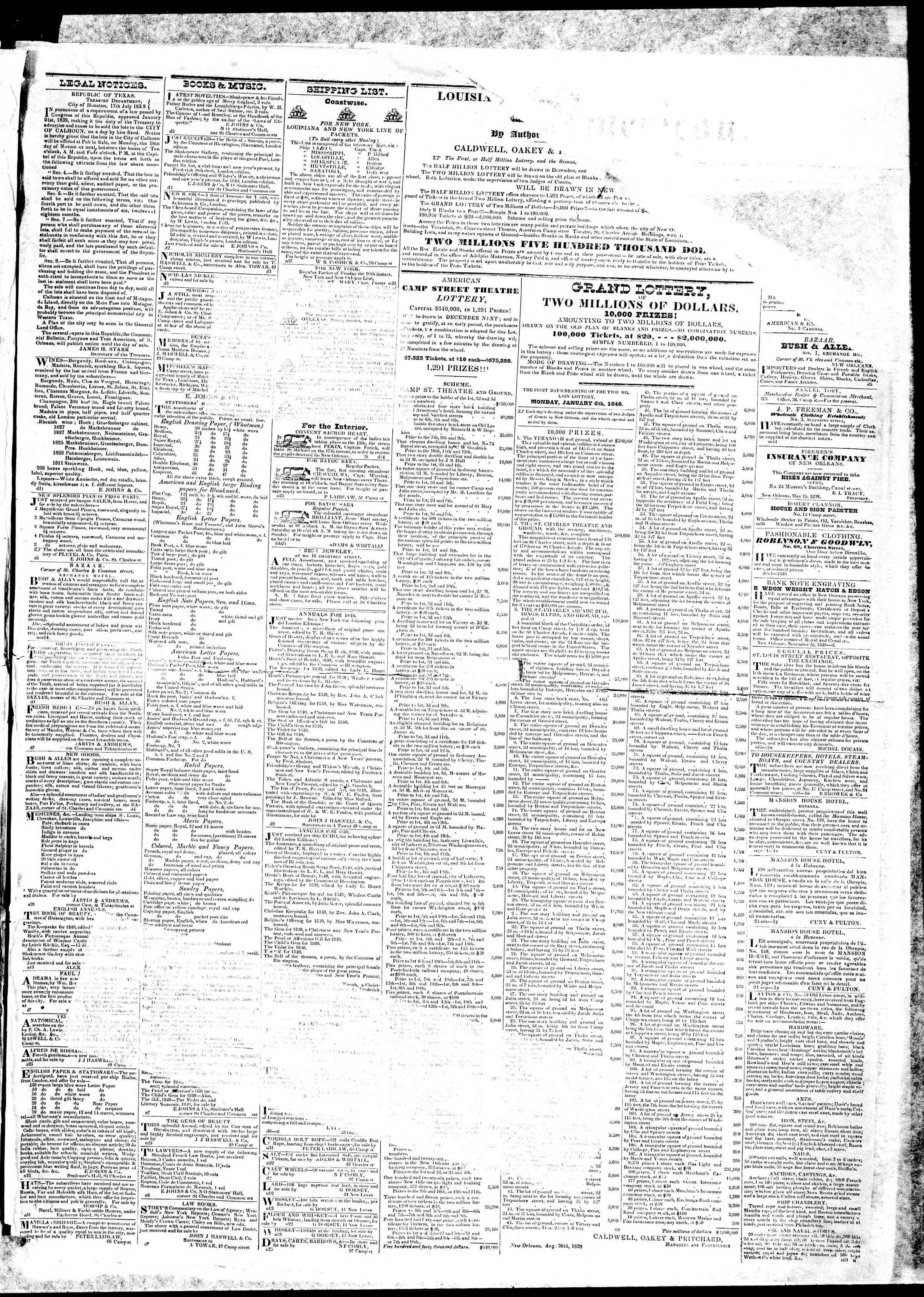December 16, 1839 Tarihli True American Gazetesi Sayfa 3