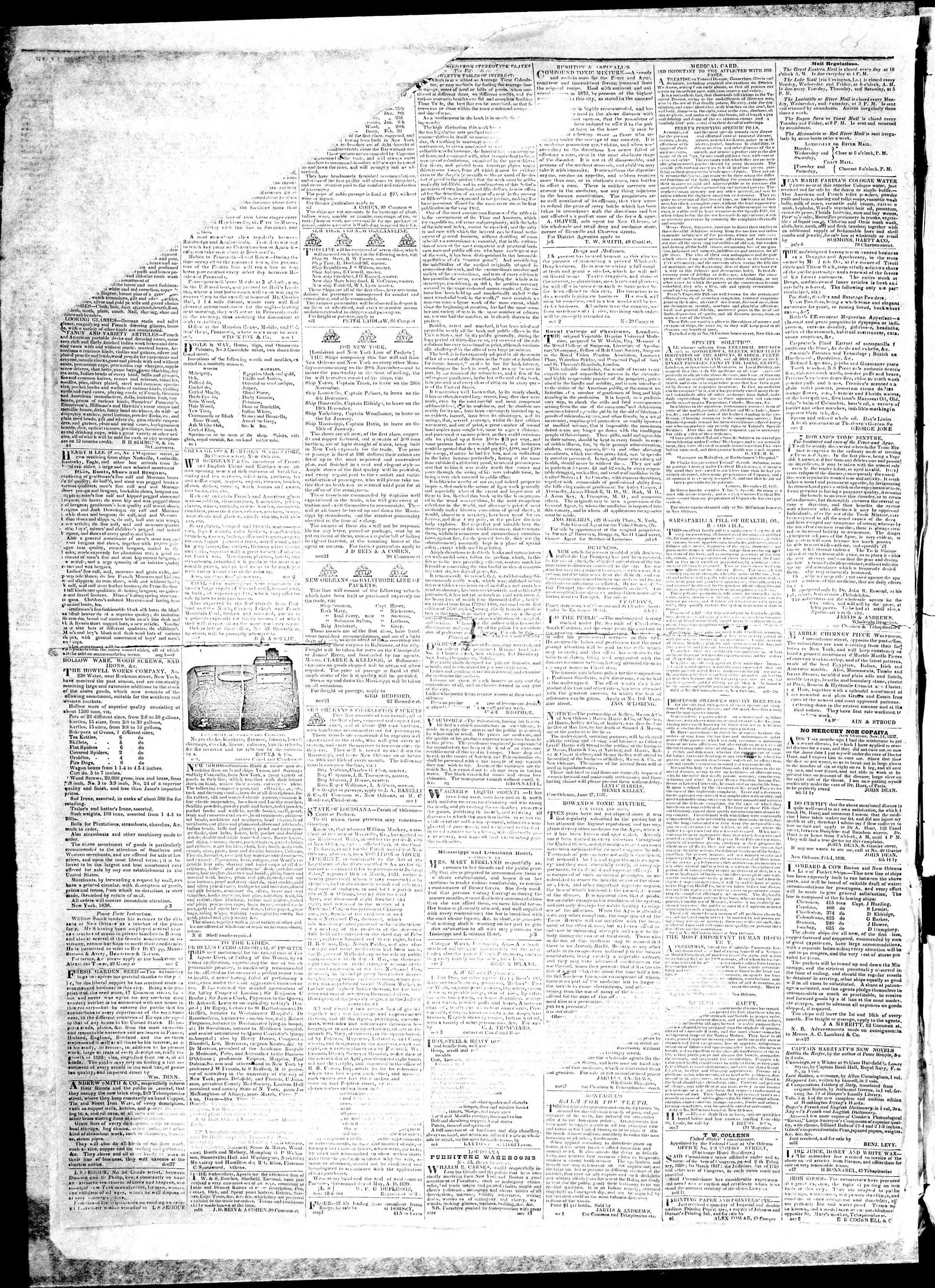 December 16, 1839 Tarihli True American Gazetesi Sayfa 4