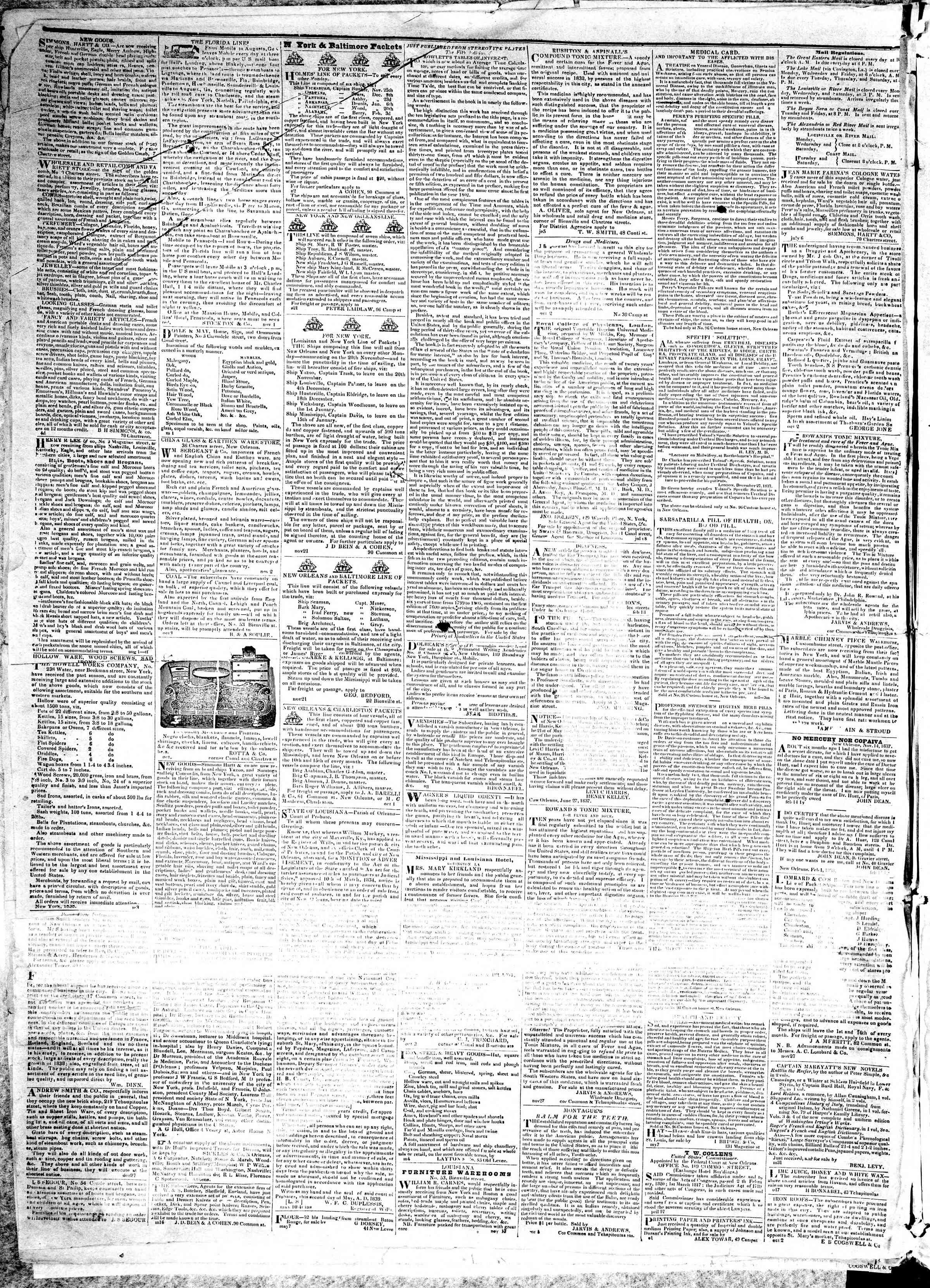 December 17, 1839 Tarihli True American Gazetesi Sayfa 4
