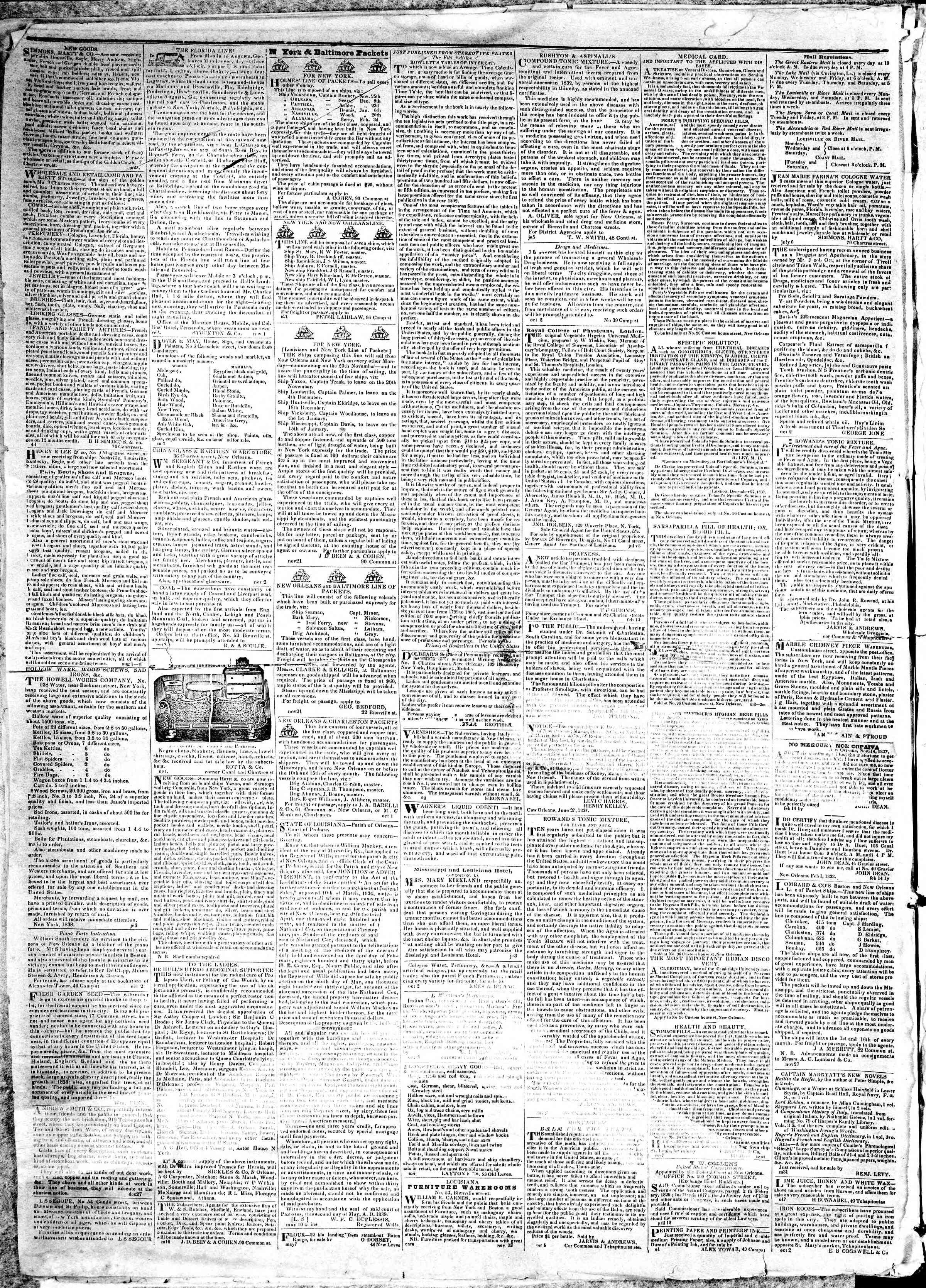 December 18, 1839 Tarihli True American Gazetesi Sayfa 4