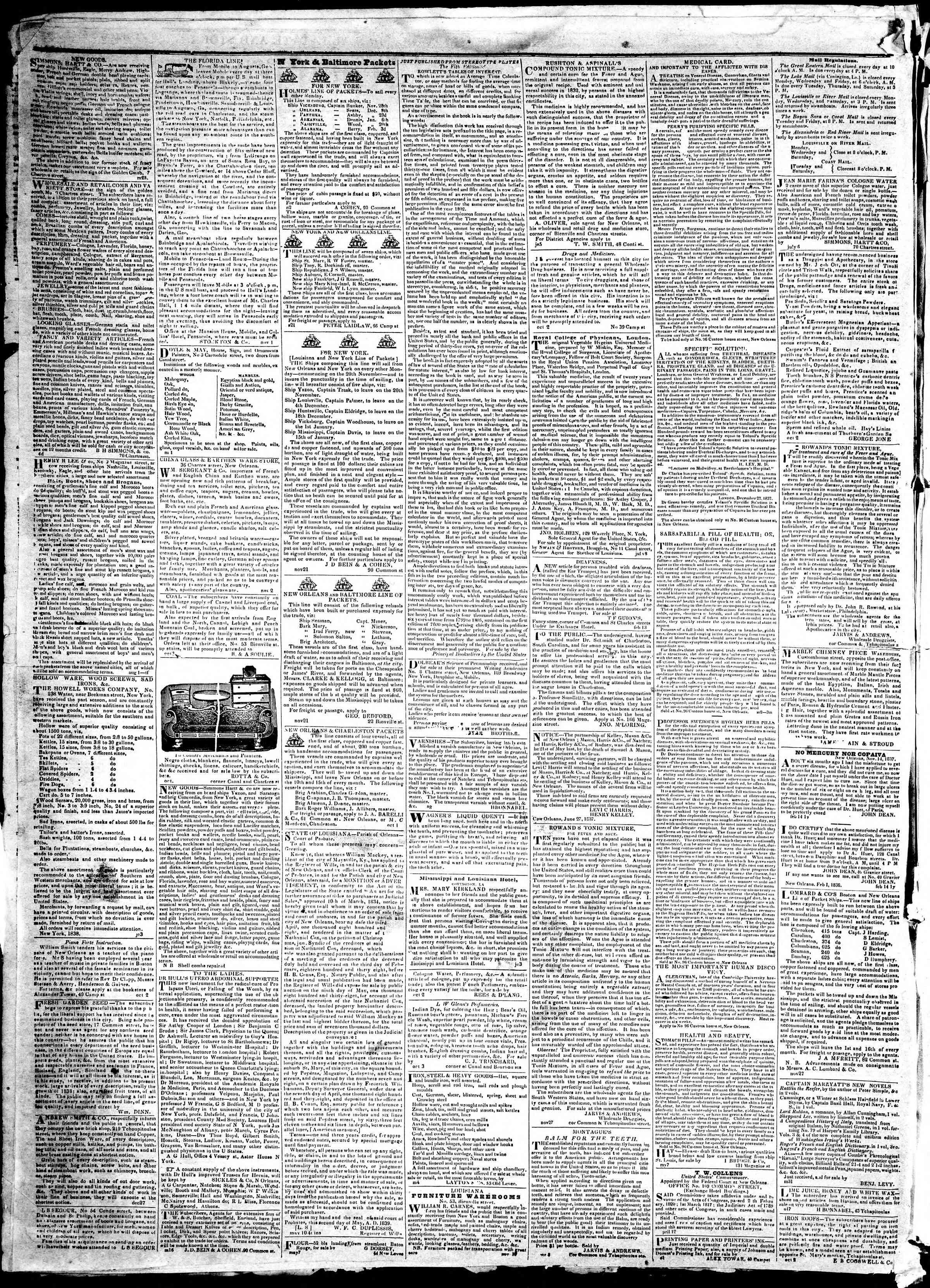 December 20, 1839 Tarihli True American Gazetesi Sayfa 4
