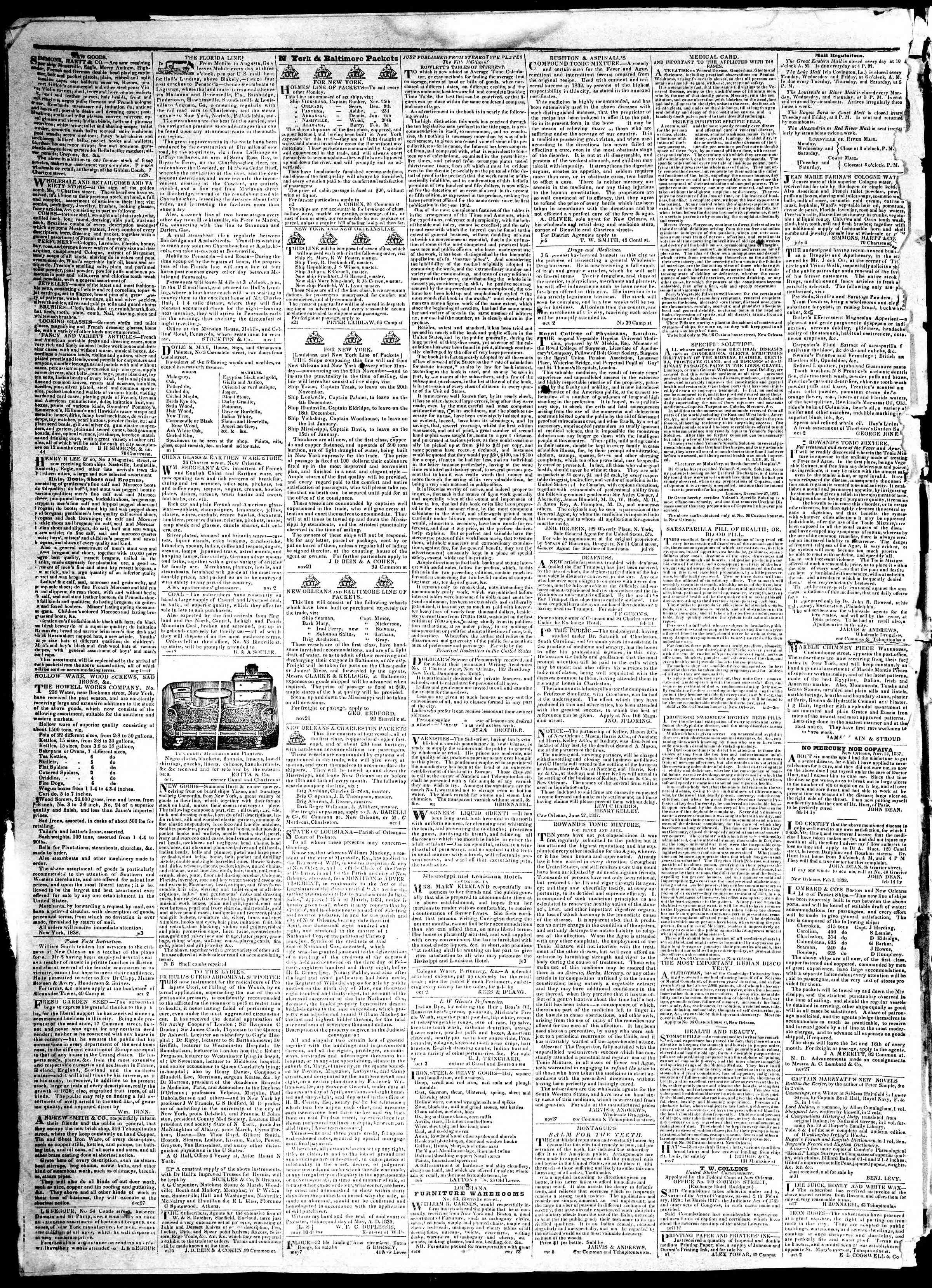 December 24, 1839 Tarihli True American Gazetesi Sayfa 4
