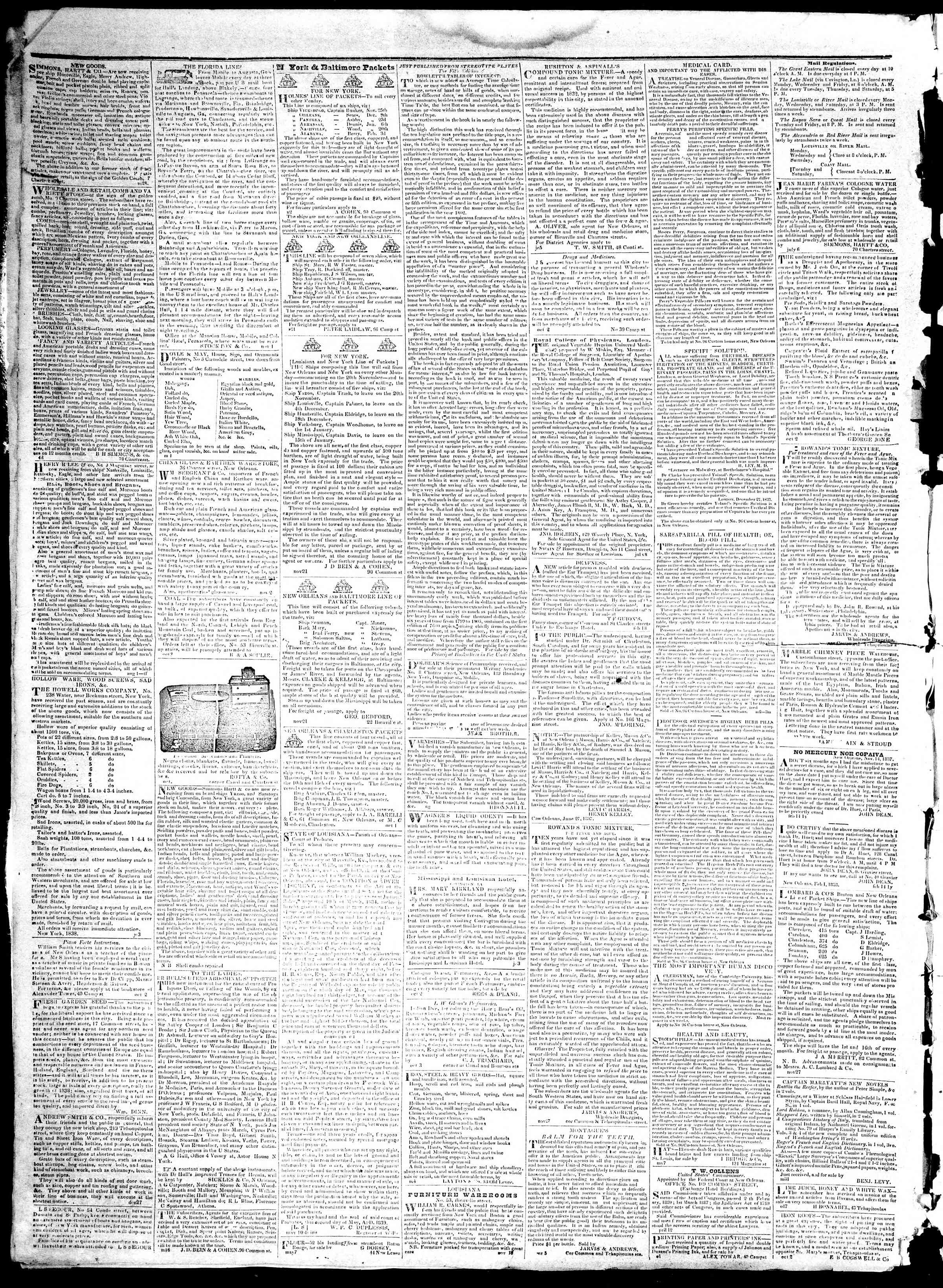 Newspaper of True American dated December 25, 1839 Page 4