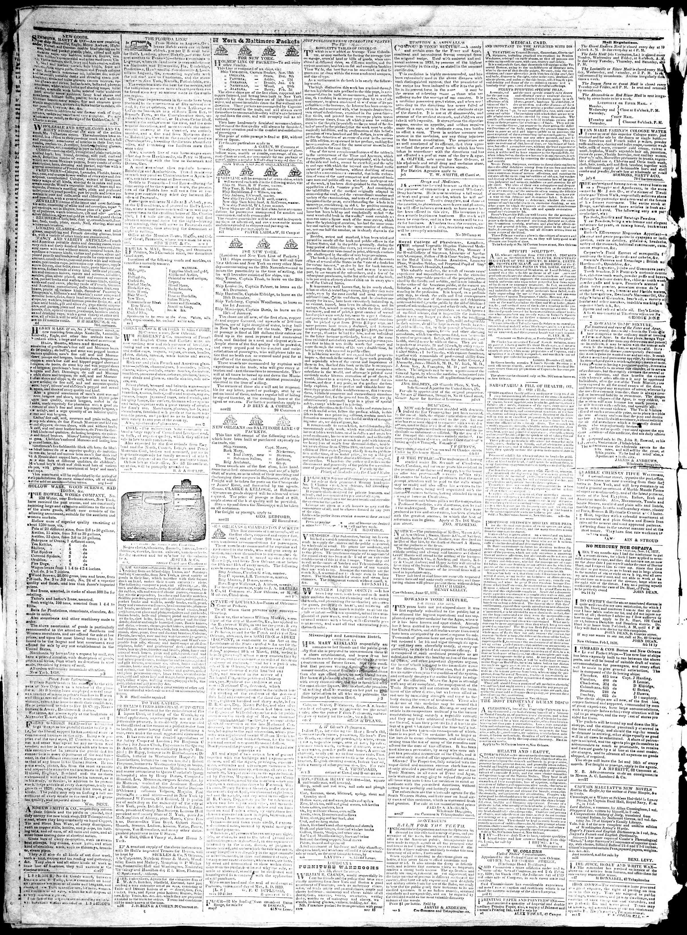 December 28, 1839 Tarihli True American Gazetesi Sayfa 4