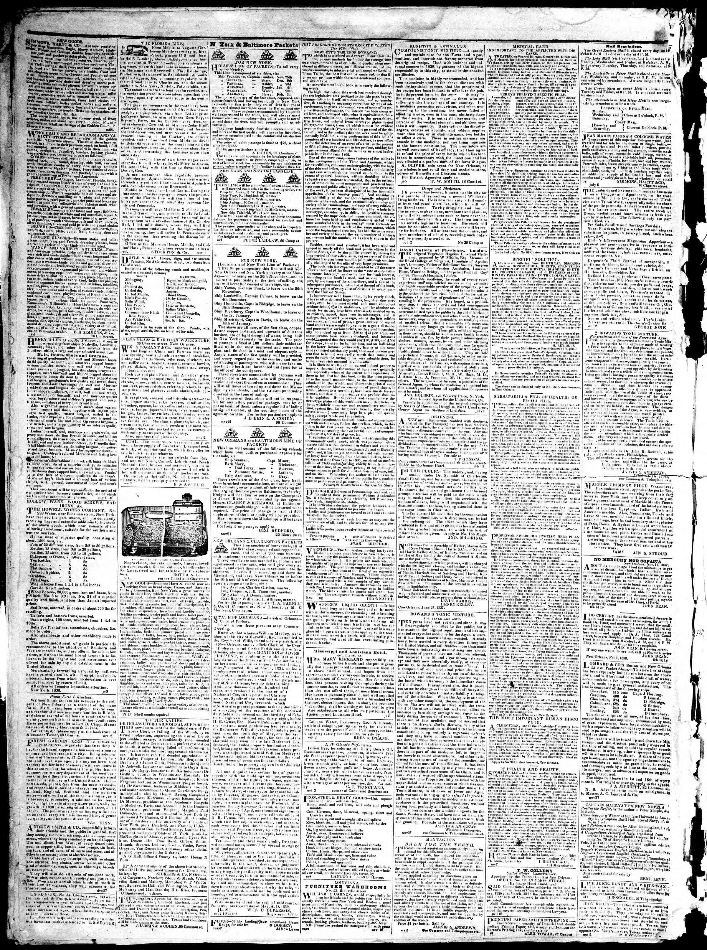 December 30, 1839 Tarihli True American Gazetesi Sayfa 4