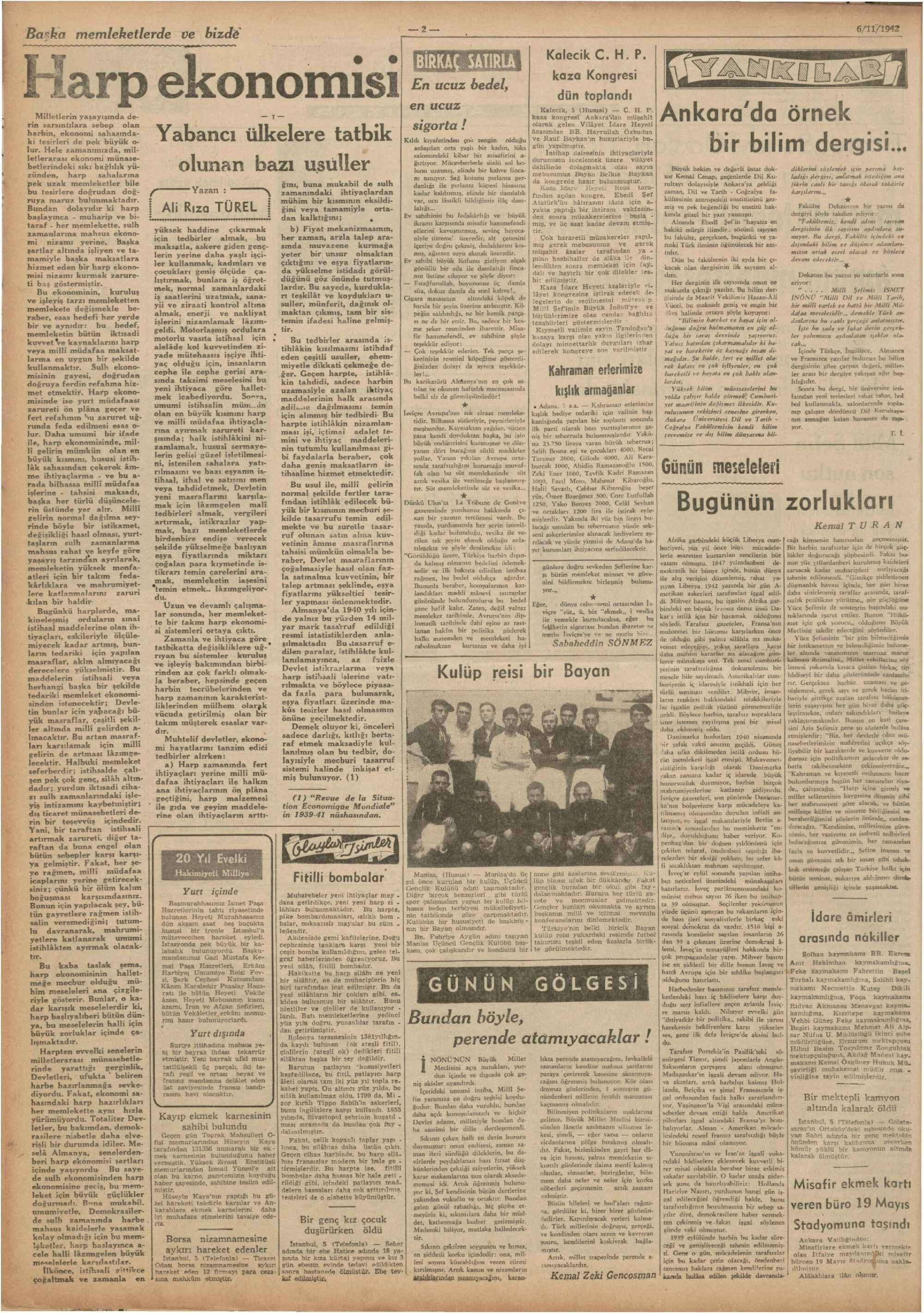 6 Kasım 1942 Tarihli Ulus Dergisi Sayfa 2