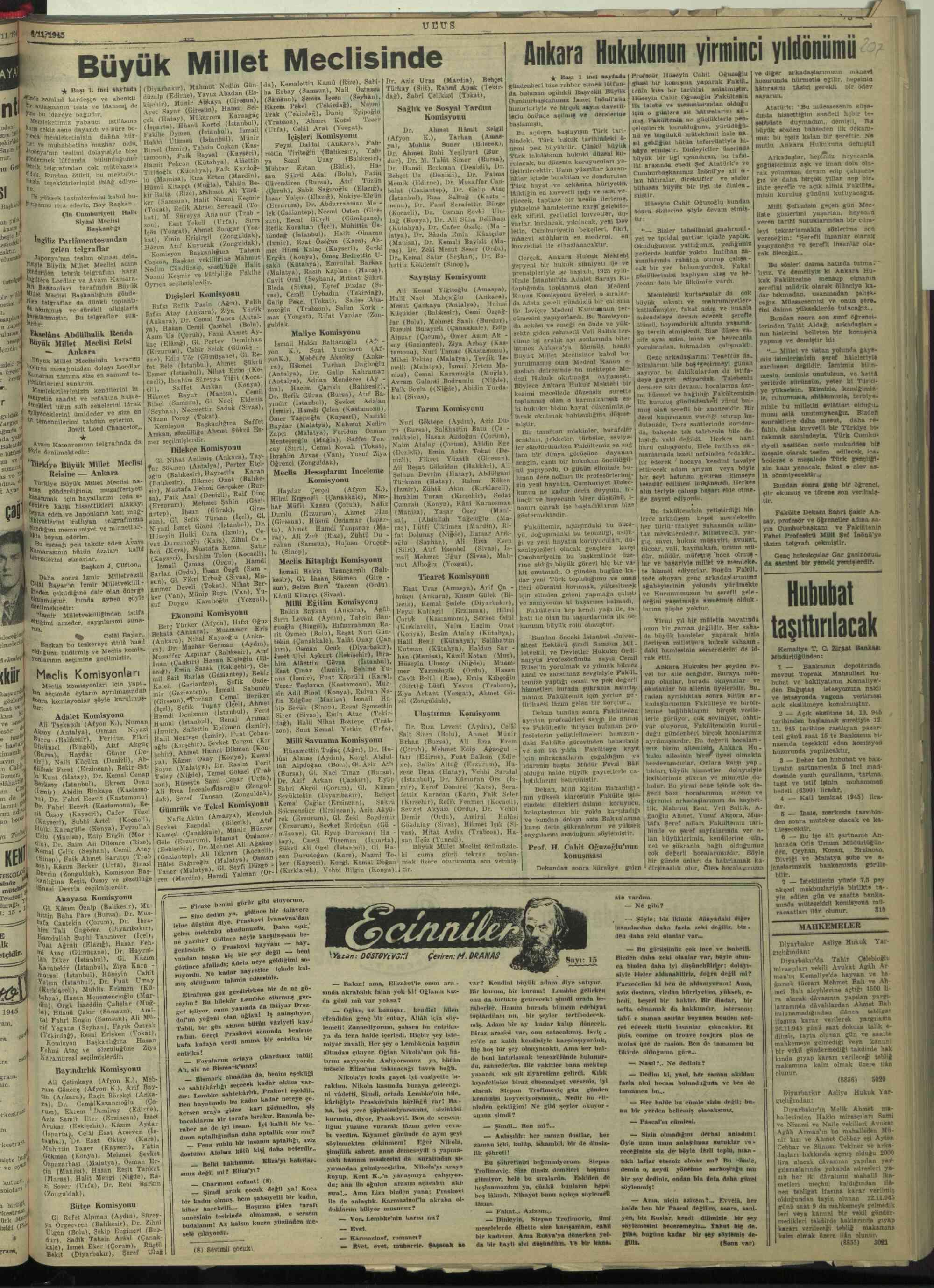 6 Kasım 1945 Tarihli Ulus Dergisi Sayfa 5
