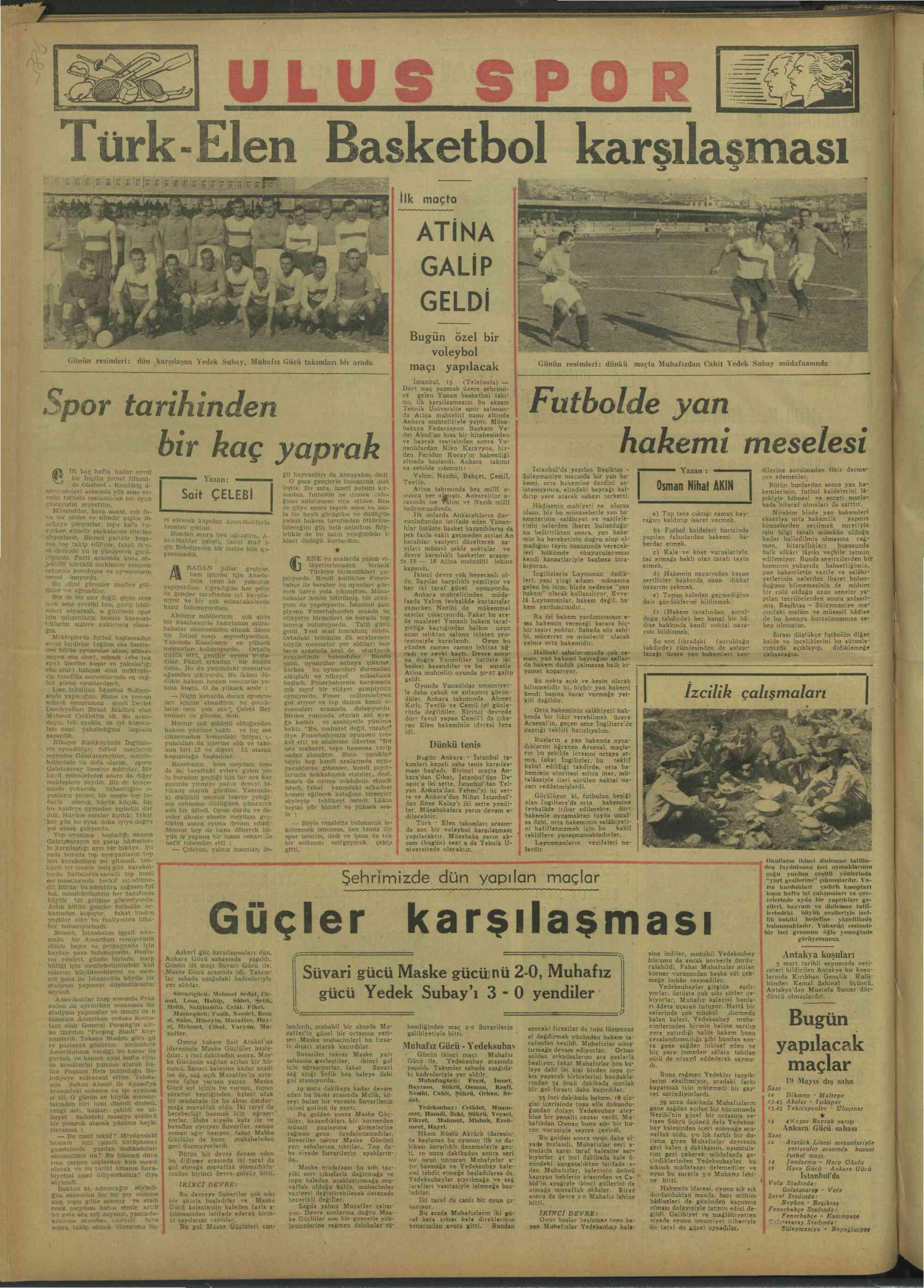 17 Mart 1947 Tarihli Ulus Gazetesi Sayfa 1