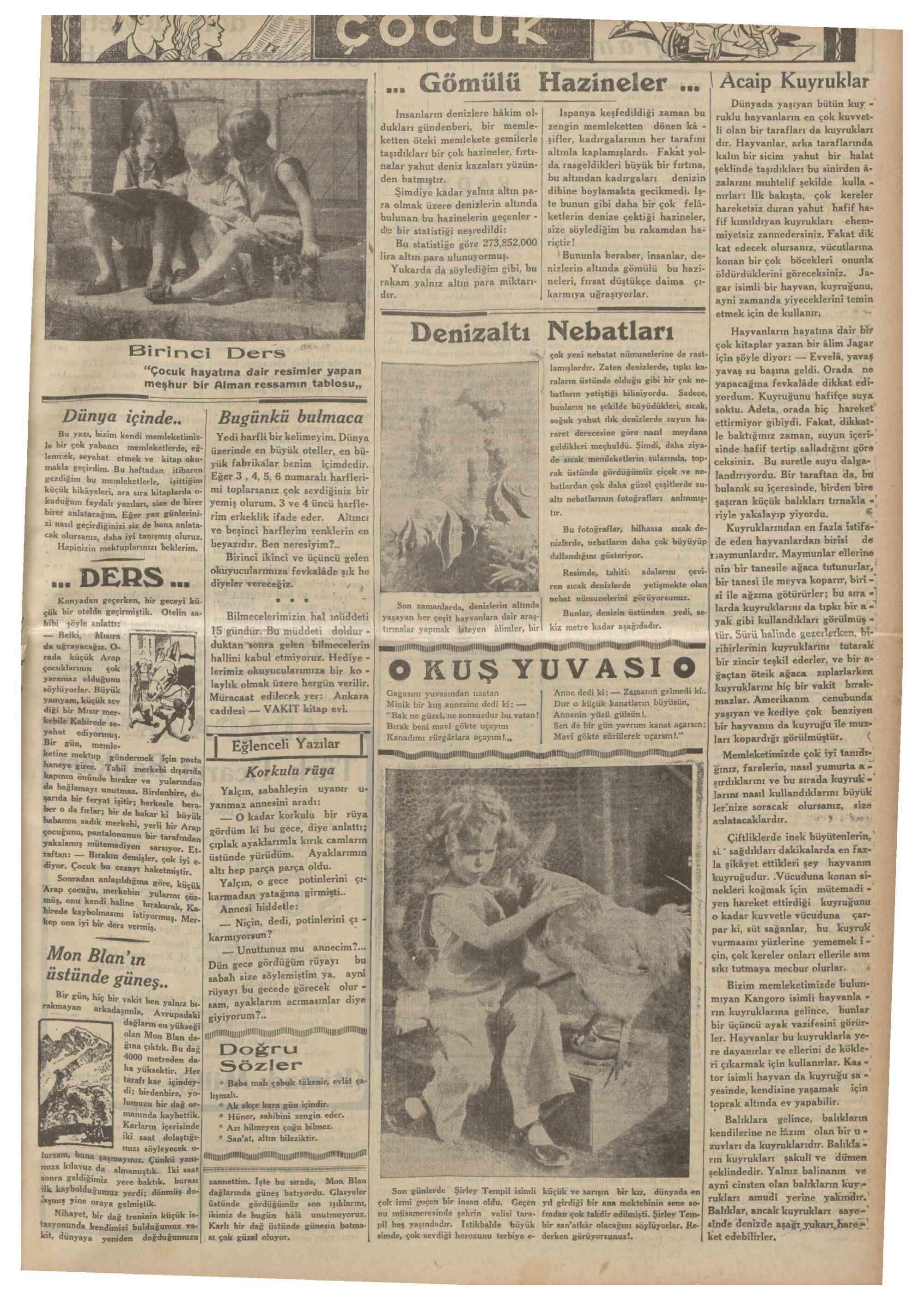 4 Ekim 1934 Tarihli Vakit Gazetesi Sayfa 17