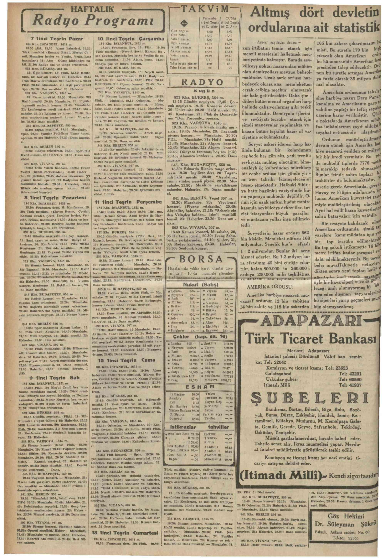 October 4, 1934 Tarihli Vakit Gazetesi Sayfa 18