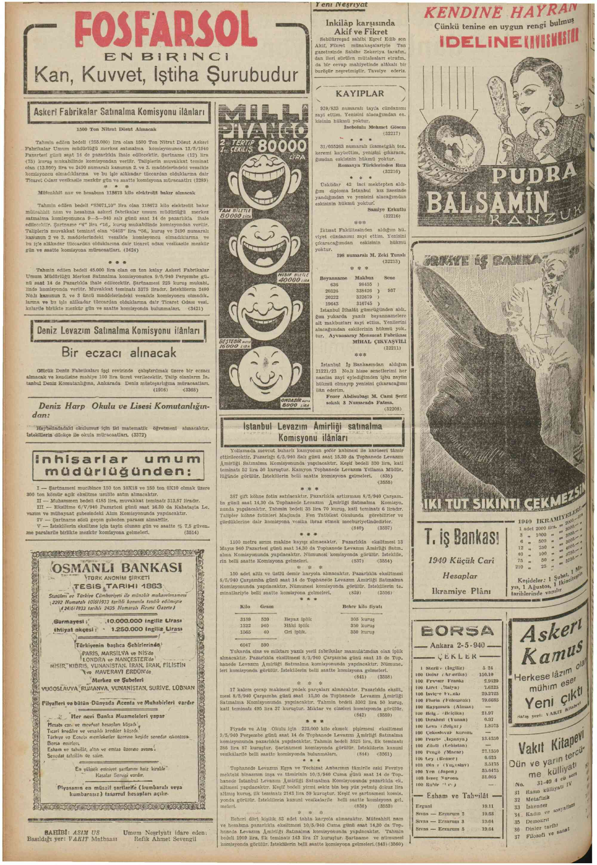 3 Mayıs 1940 Tarihli Vakit Dergisi Sayfa 6