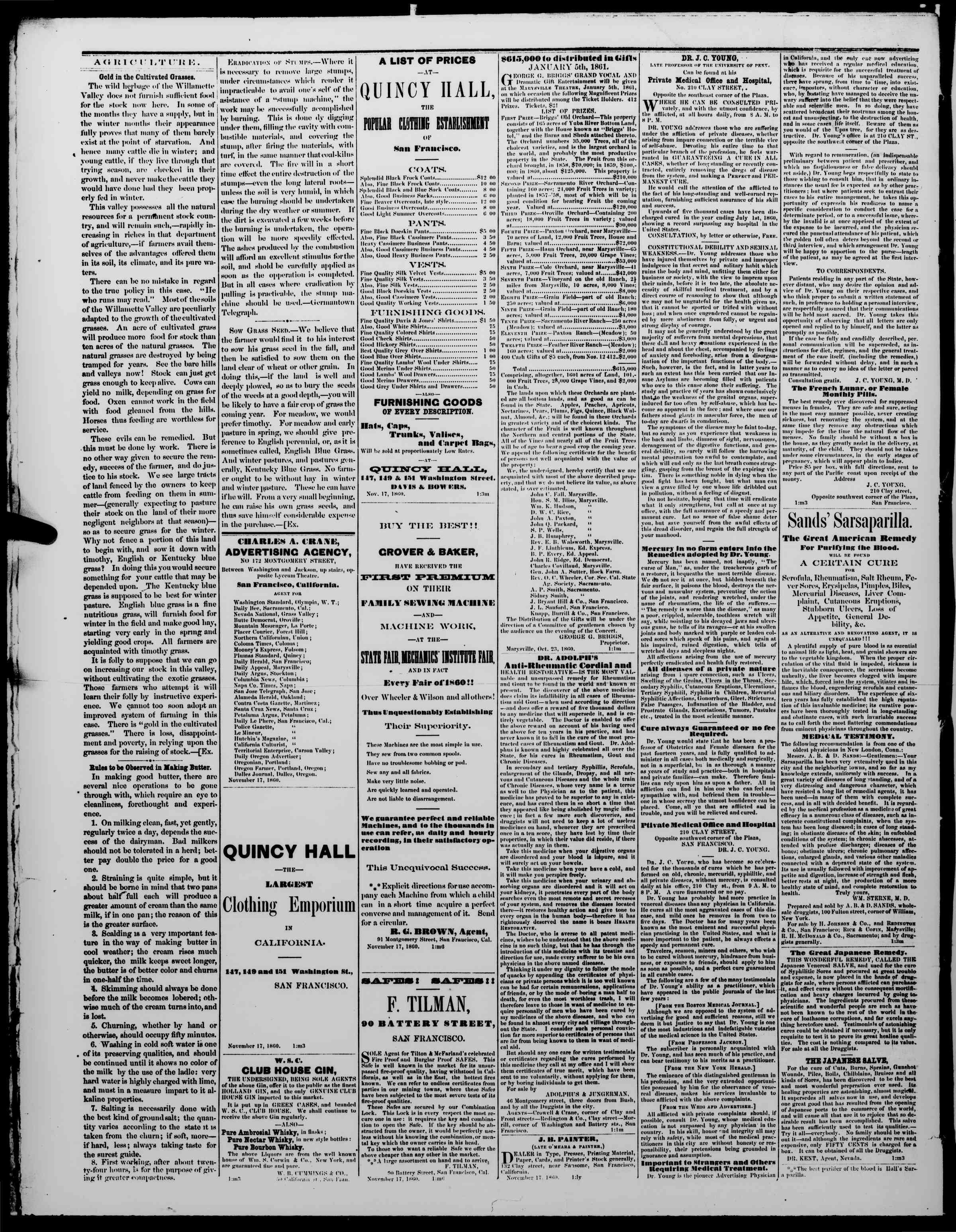 Newspaper of The Washington Standard dated November 17, 1860 Page 4