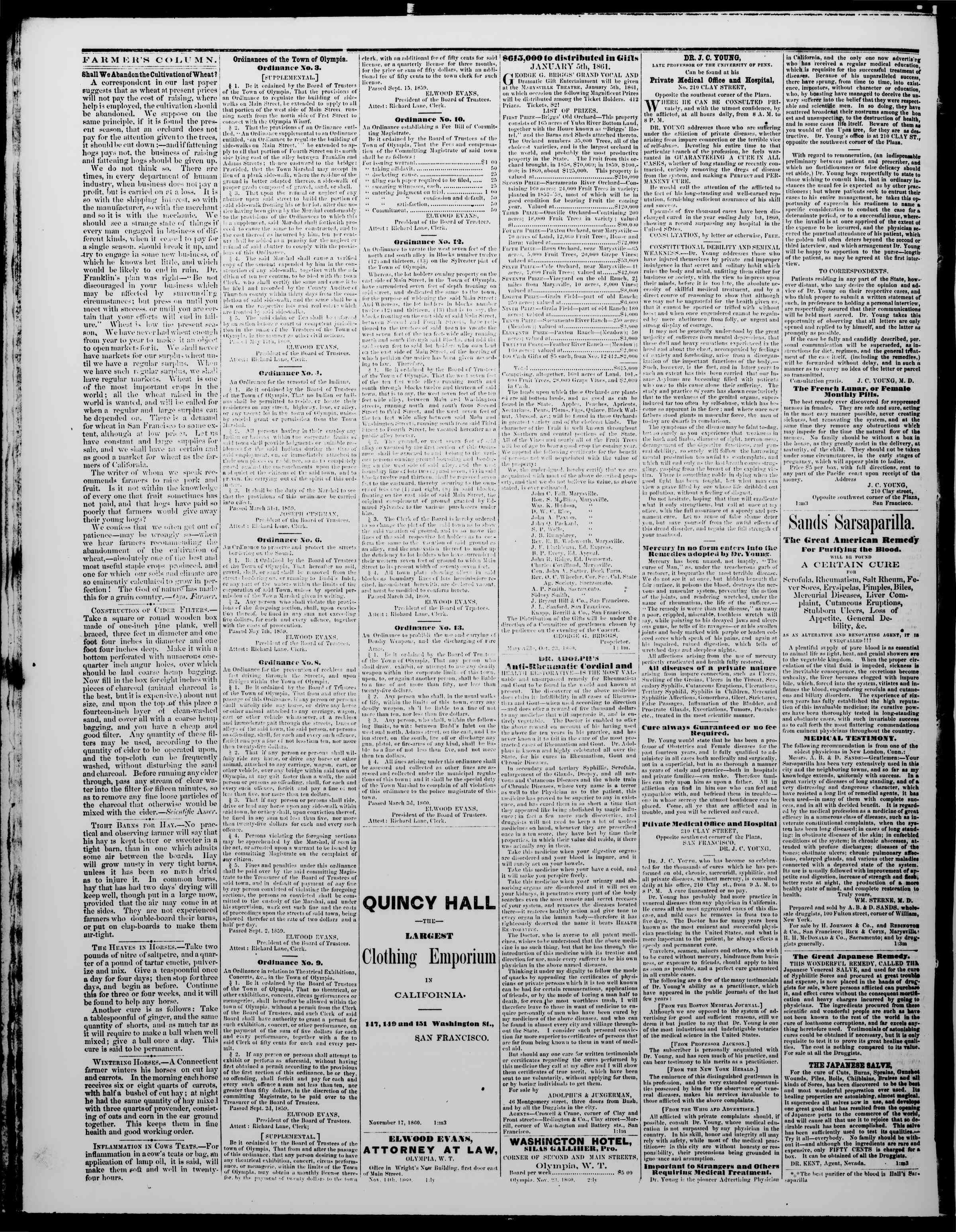 Newspaper of The Washington Standard dated December 15, 1860 Page 4