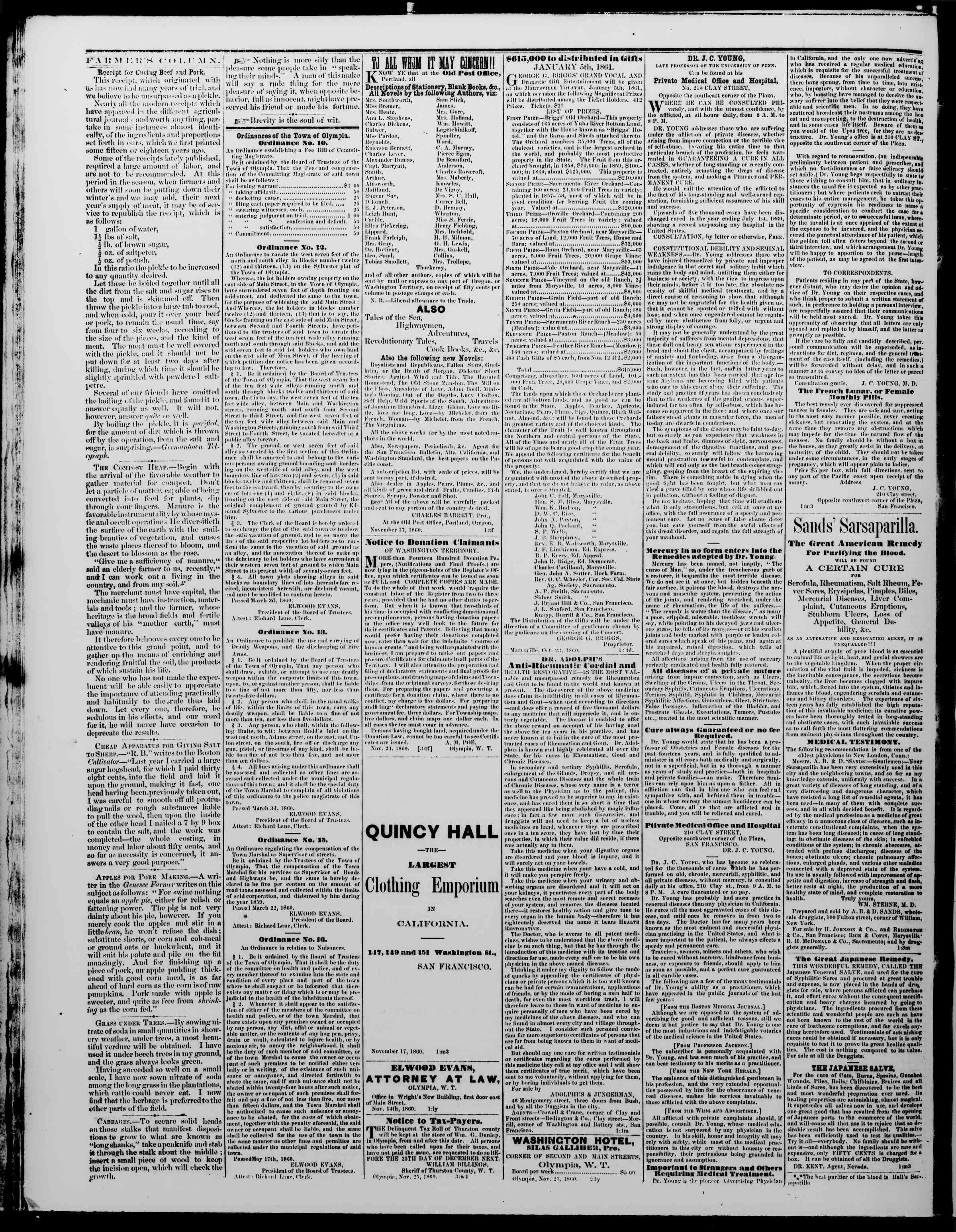Newspaper of The Washington Standard dated December 22, 1860 Page 4