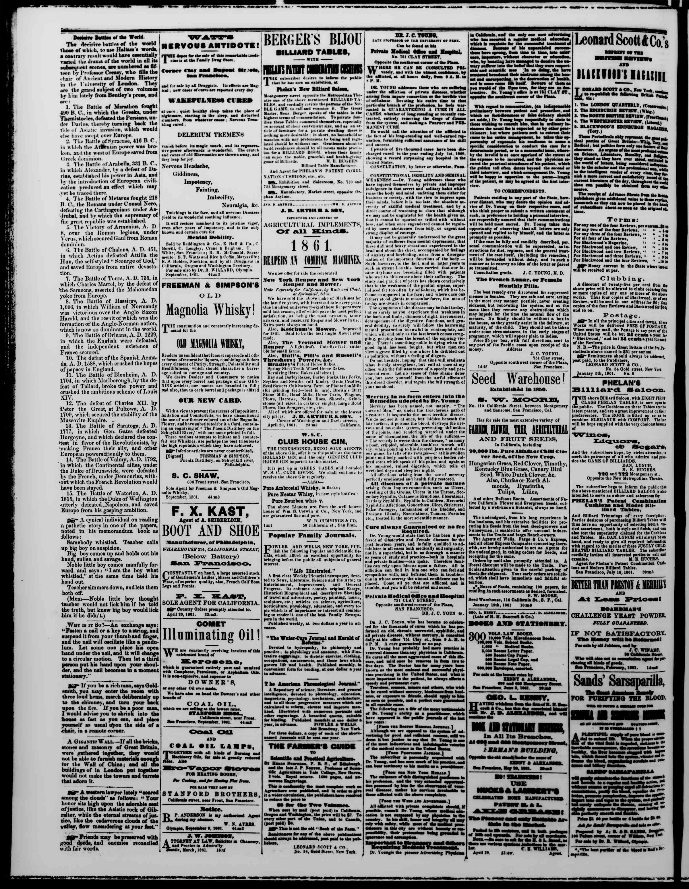 Newspaper of The Washington Standard dated November 16, 1861 Page 4