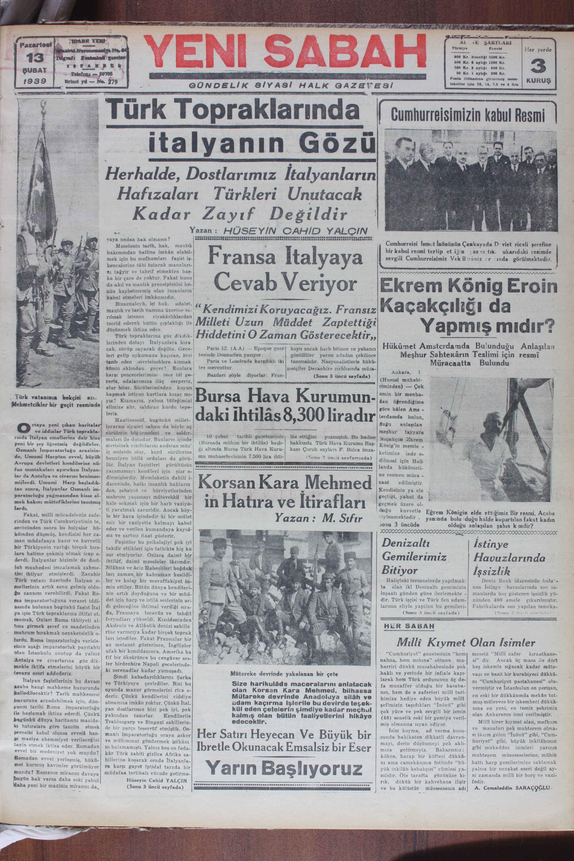 Herhalde, Dostlarımız İtalyanların Hafızaları Türkleri Unutacak Kadar Zayıf Değildir ! Yazan : HÜSEYİN CAHİD YALÇIN vaya neden hak olmasın? GESEEESERELSEZTEETTEDDENE SETTRASEDSELEEMTEEDELEN SOSTEEETDEDTERTTTTTELEDİRMEDDZE Meselenin barih, hak, ıııanlık_ W-ş y Cumburreisi Tsmut İnönünün Çankayada D- vlet ricali şerefine j