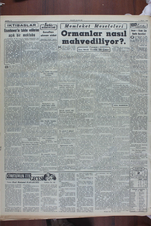 2 Nisan 1949 Tarihli Yeni Sabah Dergisi Sayfa 2