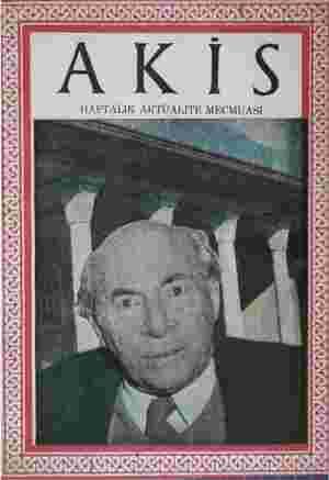 Akis Dergisi 12 Şubat 1954 kapağı