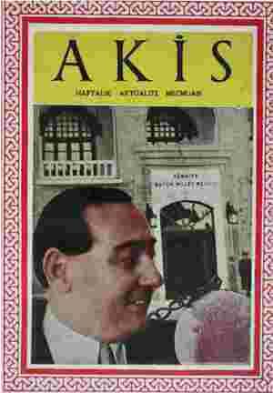 Akis Dergisi 22 Mayıs 1954 kapağı
