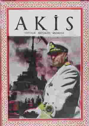 Akis Dergisi 28 Ağustos 1954 kapağı