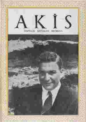 Akis Dergisi 4 Eylül 1954 kapağı