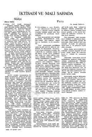 İKTİSADİ VE MALİ SAHADA Maliye Bütçe hakkı H aziran 1927 tarihli muvazenei umumiye kanunu altıncı madde- sınde buyçenın...