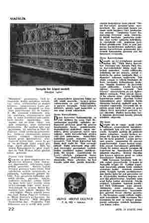 """ASKERLİK Sergide bir köprü modeli Tekniğin zaferi """"""""Muhabere"""" dusundaki rını, sahra pavyonuydu. Türk or- bütün muhabere..."""