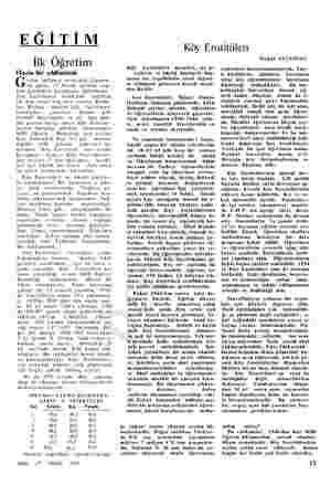 EĞİTİM İlk Öğretim Hazin bir yıldönümü G eçen haftanın ortasında Çarşam- ba günü, 17 Nisan tarihini taşı- yan gazeteleri...