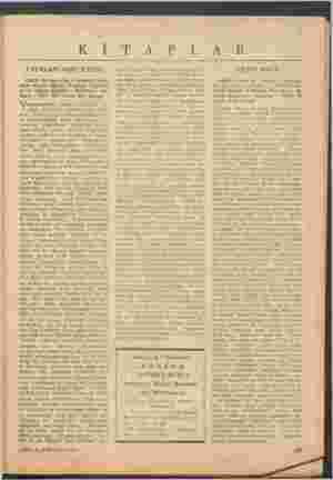 K İ T A P L A R YAŞAYANLARIN İÇİNDE (Halil Kocagöz'ün 3 perdelik man- kara - 1957. 132 sayfa, 250 kuruş) Yıuyanların...