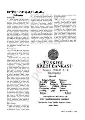 İKTİSADİ VE MALİ SAHADA Kalkınma Fedakârlık 27 Mayıs İnkılabı, her sınıf vatan- daşta büyük bir şevkle hükümete yardımcı...