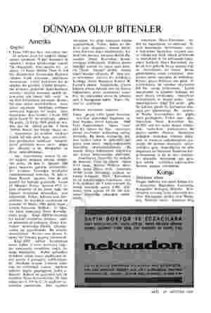 DÜNYADA OLUP BİTENLER Amerika Geçtik! 4 Ekim 1957'den beri Amerikan hal- kı rubamı ezen bir aşağılık duygu- sunun içindeydi: