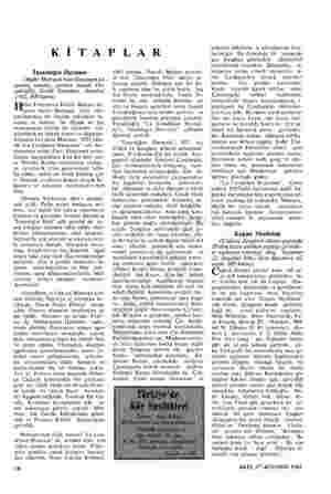 KİTAPLAR İnsanlığın Durumu (Andre Malraux'nun Goncourt ka- zanmış romanı, çeviren Samih Tir- yakioğlu, Varlık Yayınları,...