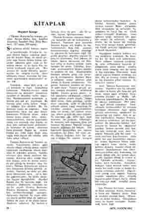 KİTAPLAR Haydari Kampı (Themos m un romanı, çe- viren Nevzat Hatko, TE Kitabevi Yayınları, İml 1962, E; m Bası- mevi, 187...