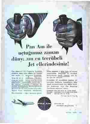 uçtuğunuz zaman dünyanın en tecrübeli Jet ellerindesiniz! Pan Americön Jet Clipper'in kumanda aletlerini idare eden...