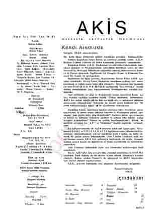 Sayı: 523 Cilt: XXX, Yıl : pi La Sahibi Mübin Toker Başyazarı Metin Toker Yazı İşleri Müdürü Kurtul Altuğ Bu sayıda Yazı...