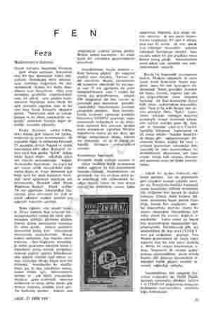 F E Feza Beklenmeyen deneme Geçen haftanın başlarında Pazartesi günü dünya radyoları, Sovyetlerin yeni bir feza denemesini