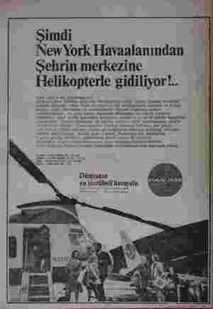 Şimdi New York Havaalanından Sehrin merkezine Helikopterle gidiliyor!.. rin o amı uruvorsunuz ? : Uçağınız ew Yörk'ün Kennedy