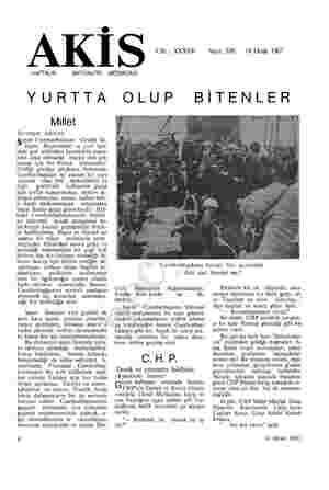 © AK i <a Cilt : XXXVIL o Sayı: 656 o 14 Ocak 1967 HAFTALIK YURTTA Millet Sevimsiz âdetler Şayın Cumhurbaşkanı Cevdet Su-...