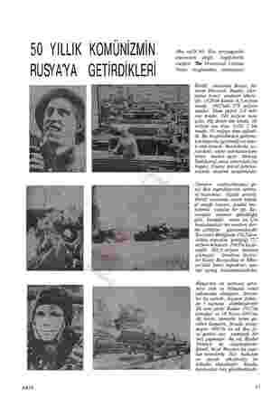 50 YILLIK KOMÜNİZMİN (Bu sayfa bir Rus propaganda eserinden değil, İngilizlerin ği i Iı meşhur The Illustrated London RUSY AY