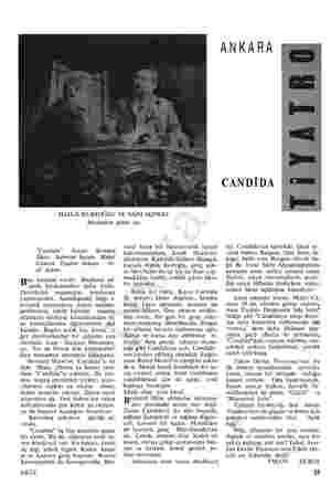 """HALUK KURTOĞLU VE SAİM ALPAGO Mezardan gelen ses """"Candida"""". Yazan: Bernard Shaw. Sahneye koyan: Mahir Canova. Tiyatro:..."""