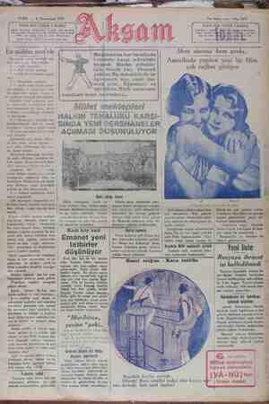 Akşam Gazetesi 4 Ocak 1929 kapağı