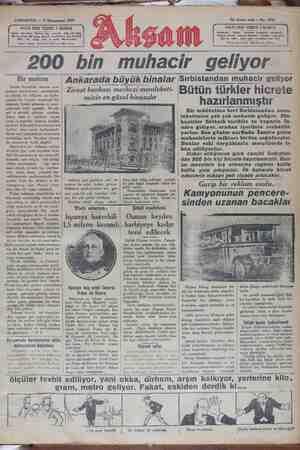 Akşam Gazetesi 5 Ocak 1929 kapağı
