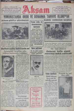 VVVVV YIINANISTANIIA ORDU VE DONANMA TAKVİYE OLUNUYOR Ankara gittiKçe guzelleşıyor JDARISI HERKESiİN BAŞINA! Yunan ordu ve : Si —) | donanmasının !_ takviyesi