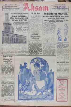 Akşam Gazetesi 8 Ocak 1929 kapağı