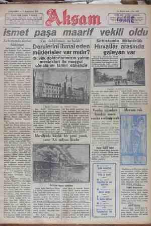 Akşam Gazetesi 9 Ocak 1929 kapağı