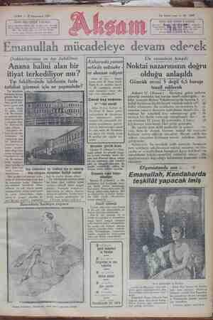 Akşam Gazetesi 18 Ocak 1929 kapağı