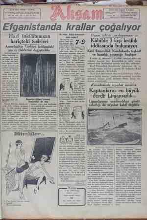 Akşam Gazetesi 20 Ocak 1929 kapağı